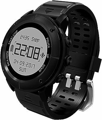 OCCMFZD Sport Smart Watch GPS De Alta Precisión Impermeable Reloj Deportivo GP De Hombres Y Mujeres Alt. De Natación Decathlon con Monitor De Frecuencia Cardíaca/Sos/Brújula/Barómetro: Amazon.es: Relojes