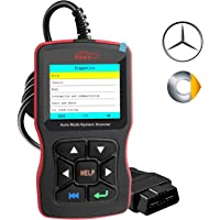 OBDScar OS802 Code Reader for Benz & Smart Check Engine Light EPB ABS SRS OBD2 Scanner with Modes 1-10