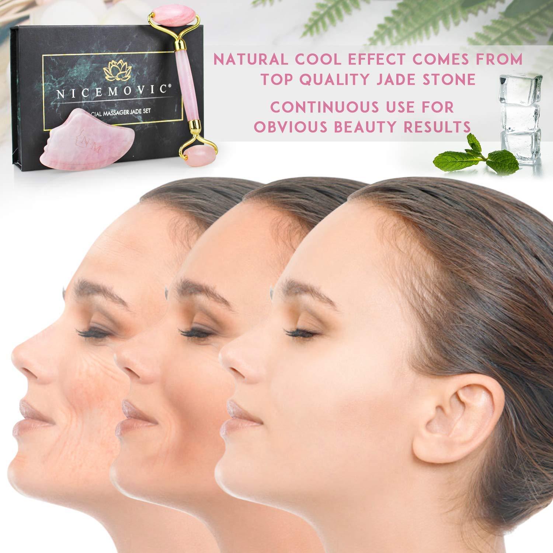 Natürliche Jade Roller Massagegerät Augen Gesicht Hals Facial Relax Slimming Too