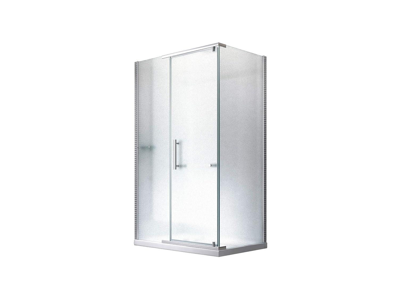 Cabina de ducha - mampara de ducha hefesto (vidrio esmerilado) 90 ...
