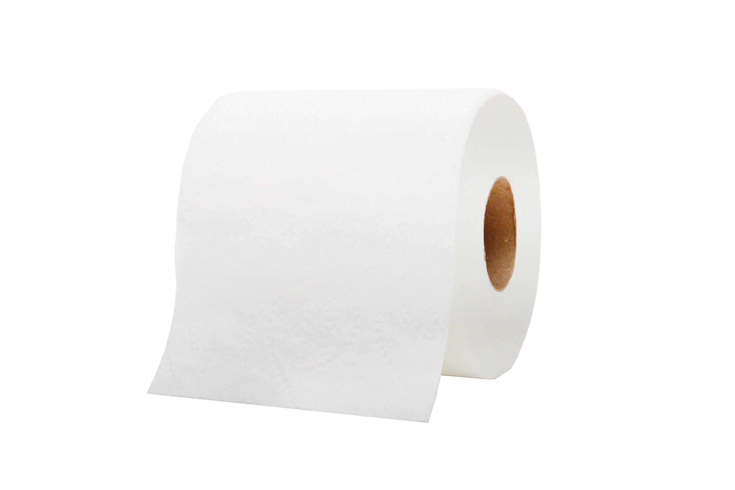 WAXIE 1855 Clean & Soft Bath Tissue Roll, White, 2-Ply, 550 Sheets Per Roll, 4.5'' X 4'' (Case of 80) by Waxie