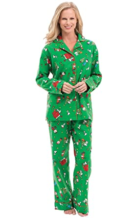 426fe69a7b0d PajamaGram Christmas Pajamas for Women - Flannel Christmas PJs ...