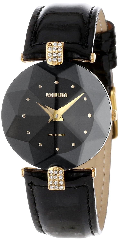 Jowissa Damen-Armbanduhr XS Facet Strass Analog Leder J5.007.M