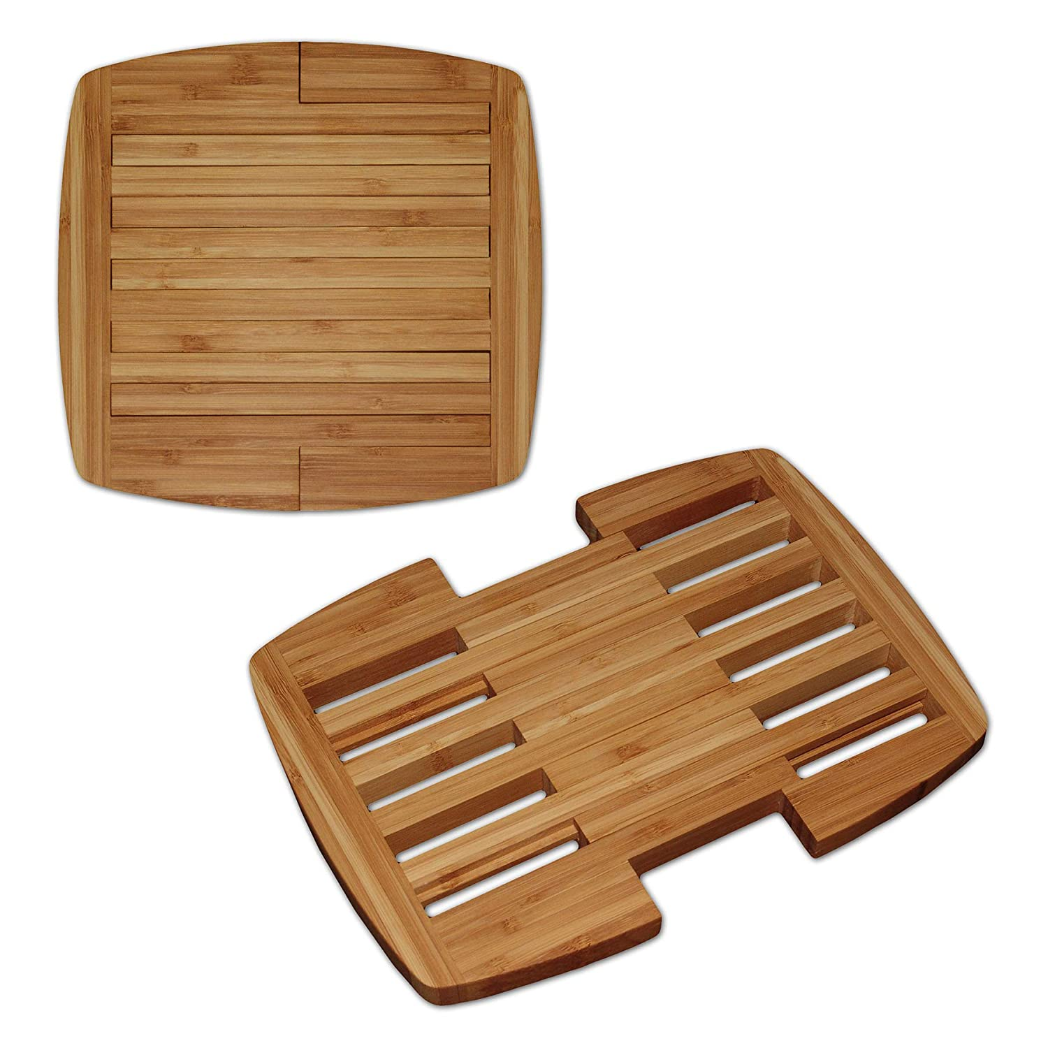 Brown Totally Bamboo 20-6628 Expandable Trivet