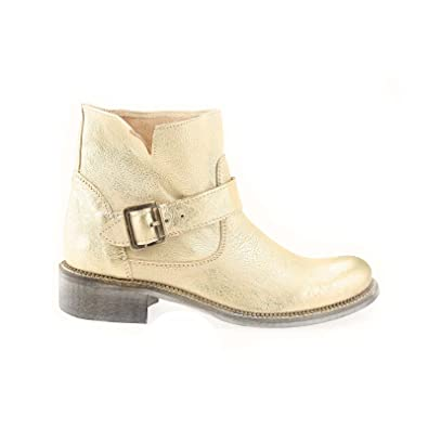 tout neuf 259ca c61aa Ovye by Cristina Lucchi , Boots biker femme - Or - Doré ...