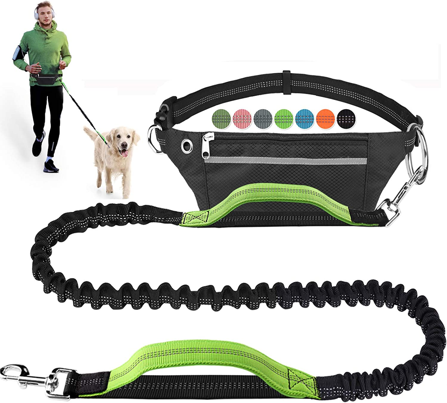Ablita Dog Leash for Running Training Walking Hands-Free Retractable Dog Leash Wrist Belt Strap Hands-Free Leash for Dogs Cat