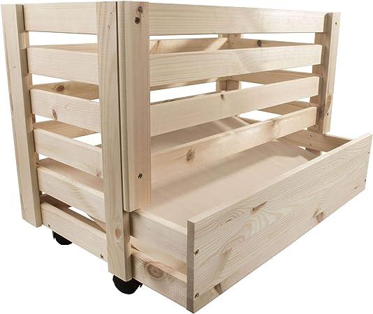 Search Box Boite De Rangement Alimentaire Pour Pommes De Terre Avec Roulettes Et Legumes Bois Dense Naturel Taille L Amazon Fr Cuisine Maison