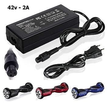 Tek® 42 V 2 A alimentación AC adaptador para monopatín monociclo Hoverboard Balance de dos