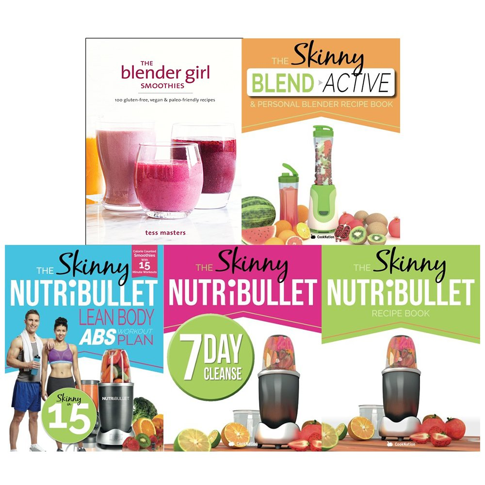 Blender girl smoothies, blender recipe book, lean body abs workout, 7 day cleanse and skinny nutribullet recipe book 5 books collection set pdf