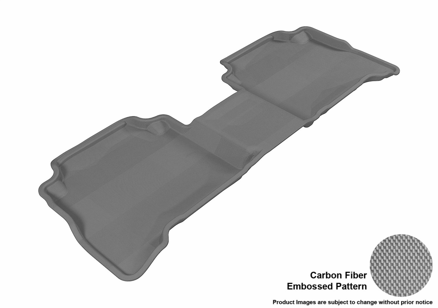 Kagu Rubber 3D MAXpider Complete Set Custom Fit All-Weather Floor Mat for Select Kia Sorento Models Gray