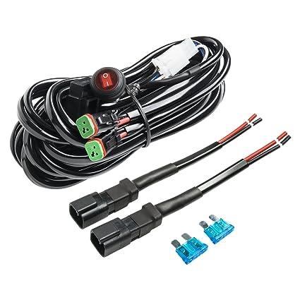 Amazon com wiring harness, eyourlife heavy duty deutsch dt wiring harness zip ties wiring harness, eyourlife heavy duty deutsch dt connectors wiring harness kit for led light bar