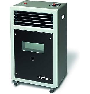 Estufa BUTSIR Llama Azul Plus con opción calefactor, visor de llama y tacto frío