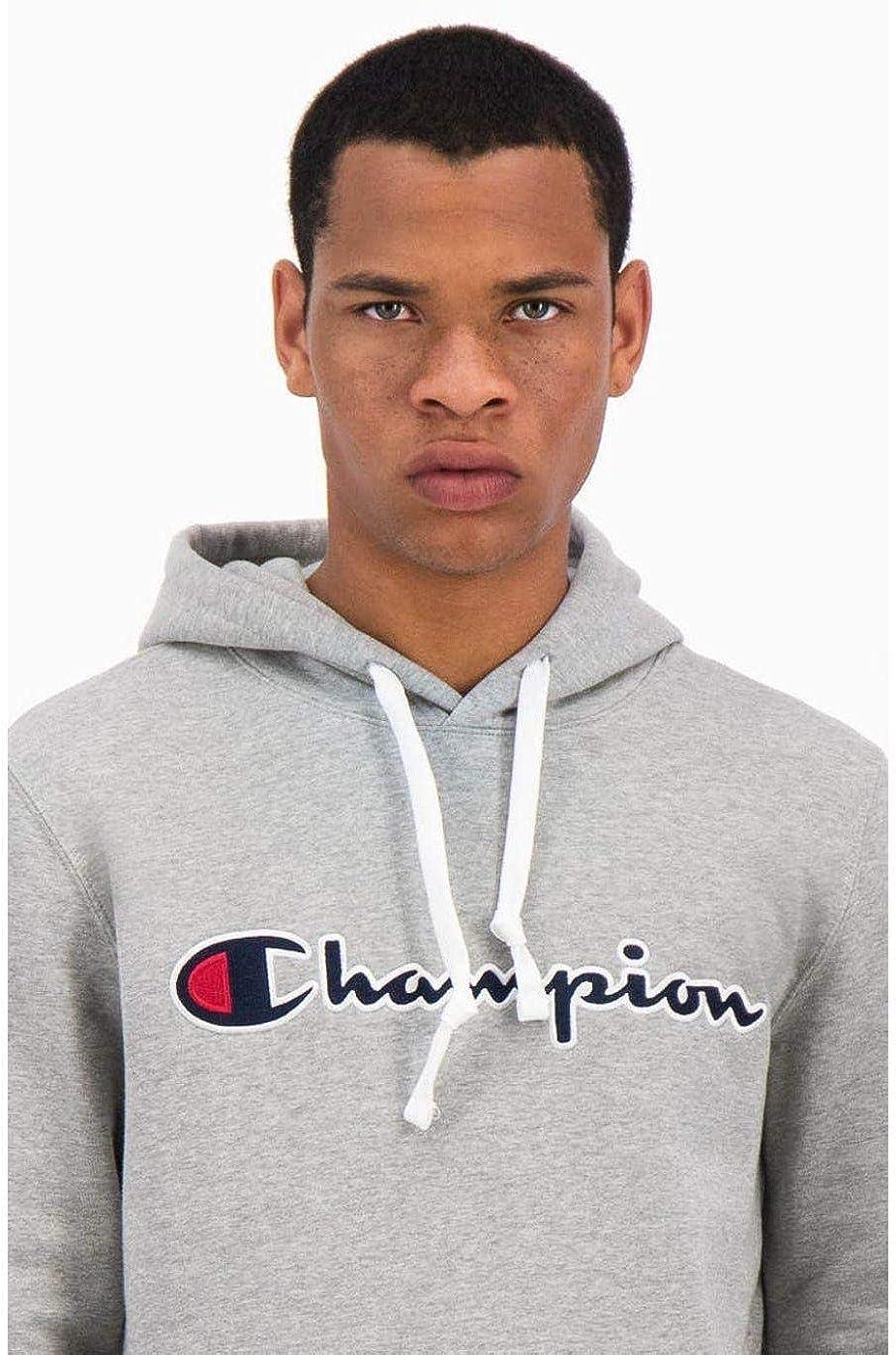 Champion Herren Kapuzenpullover Hooded Sweatshirt Grau