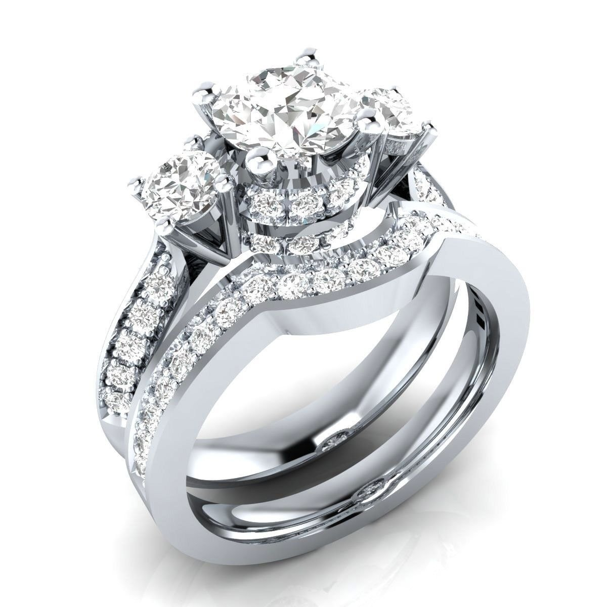 Fashion 925 Silver Jewelry White Sapphire Women Wedding Engagement Ring Size6-10