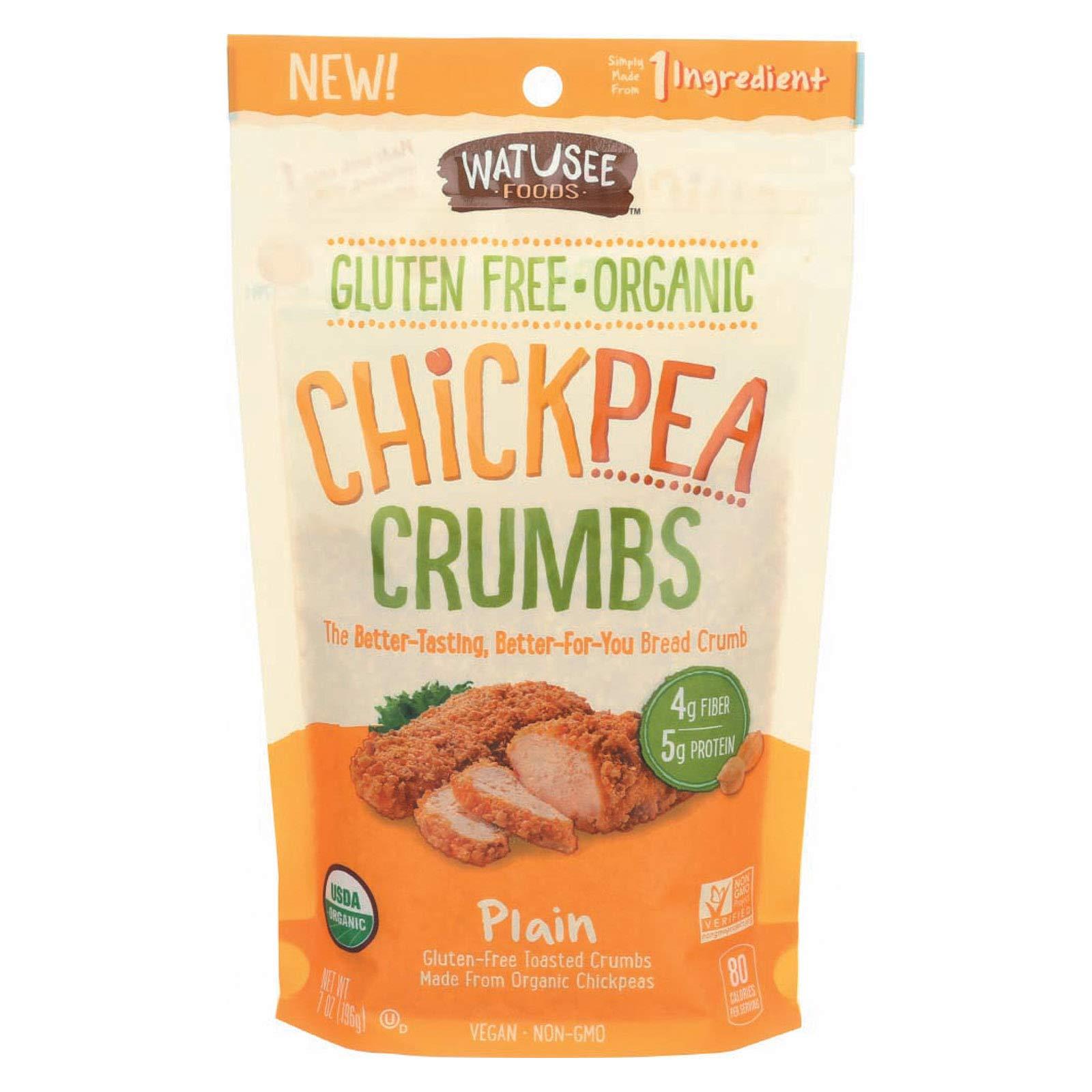 Watusee Foods Chickpea Breadcrumbs - Organic - Plain - Case of 10-7 oz