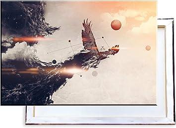 Unified Distribution Fantasy Adler - Imágenes e Impresiones artísticas Sobre Lienzo tensado y en Calidad de impresión de Primera Clase, 100 x 70 cm: Amazon.es: Juguetes y juegos