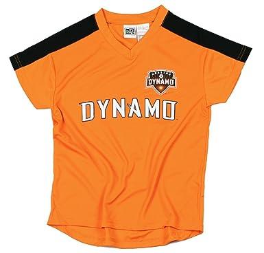 MLS Houston Dinamo niños - Camiseta de fútbol, Color Naranja: Amazon.es: Ropa y accesorios