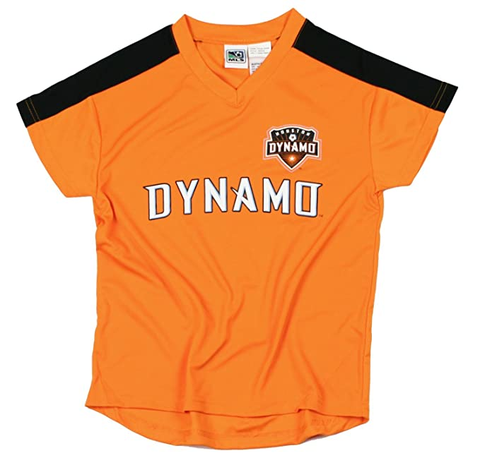 MLS Houston Dinamo niños – Camiseta de fútbol, Color Naranja