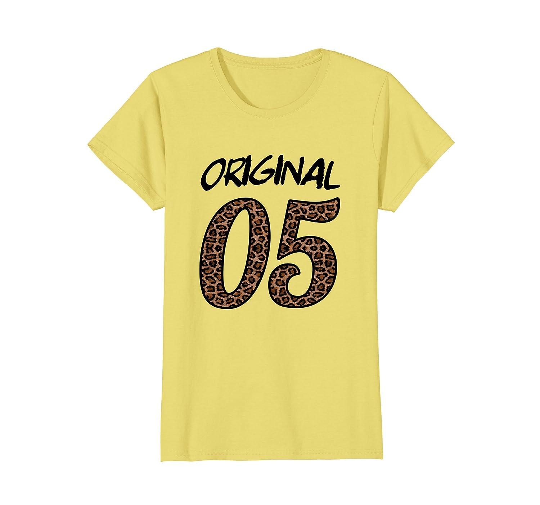 Womens 13 Year Old Birthday T-shirt Thirteenth Leopard-AZP
