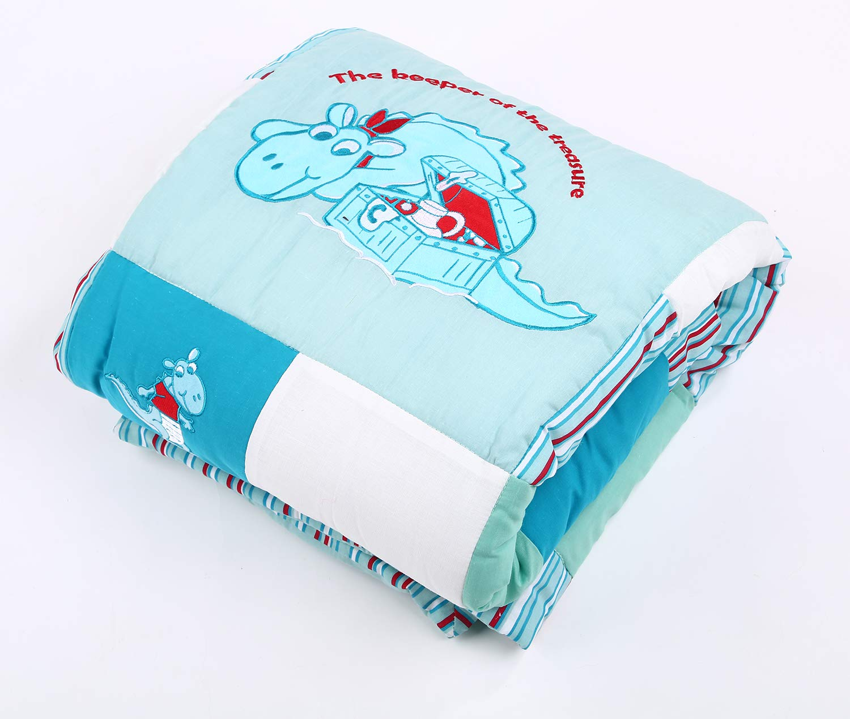 Laufgittereinlage Blau, 115x115 cm lulupila Baby Krabbeldecke 115 x 115 cm 100/% Baumwolle Spieldecke Oeko Tex Standard 100