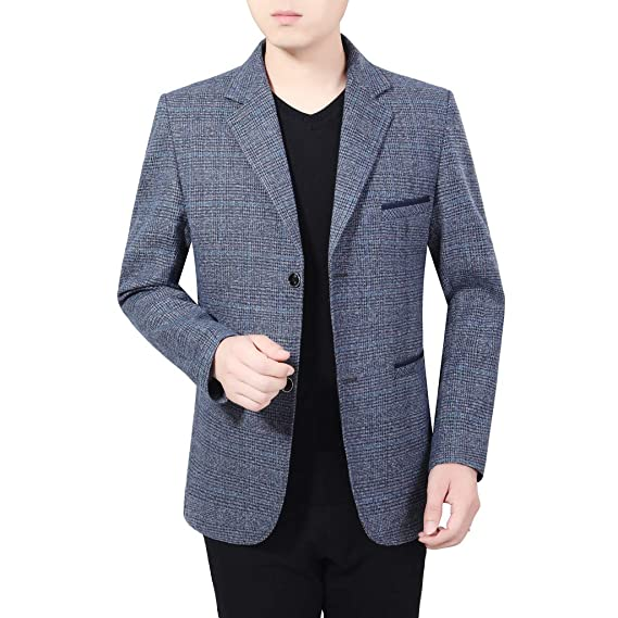 HLIYY Homme Veste en Cotton Slim Fit Manteau Sport