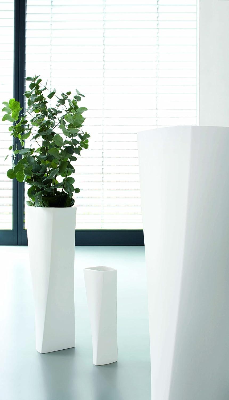 Amazon De Asa Selection Twist Vase Weiss 50cm Halbhohe Bodenvase