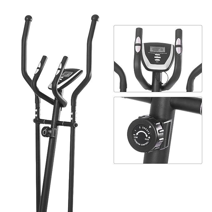 Magnético Bicicleta Elíptica con monitor LCD y pulso 8.8lb volante: Amazon.es: Deportes y aire libre