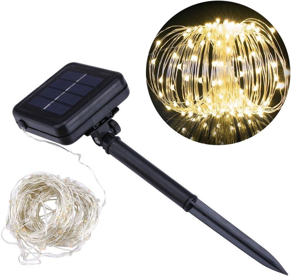 20m Solar Fairy String Lights 200LED Copper Wire Outdoor Garden Xmas Decor Lamp