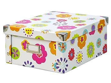 Zeller 17852 Boite de rangement en carton pour enfants, 31 x 26 x ...