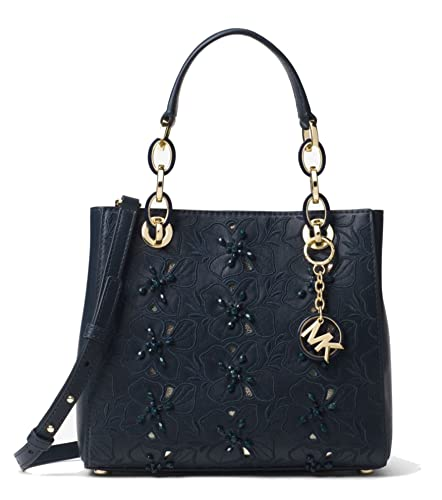 96969ae2af6f10 Image Unavailable. Image not available for. Color: MICHAEL Michael Kors  Cynthia Small Floral Embroidered Leather Satchel ...