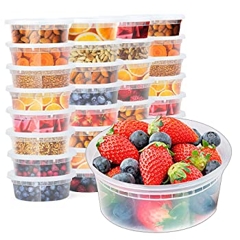 Glotoch 8-Ounce Meal Prep Freezer Containers
