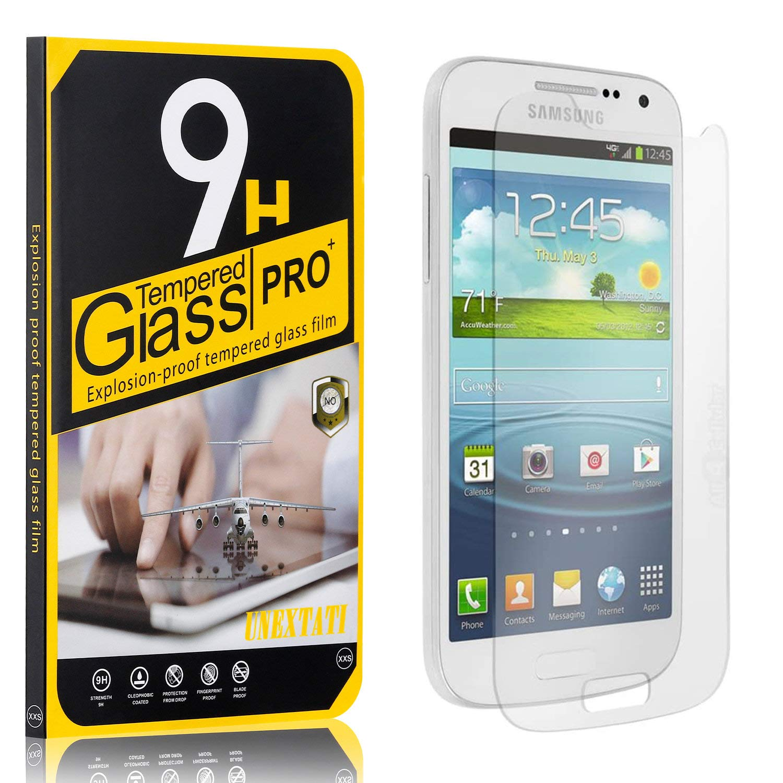 4 Pack Screen Protector for Samsung Galaxy S4 Mini UNEXTATI Galaxy S4 Mini HD Clear Tempered Glass Film 9H Hardness Anti Shatter Anti Scratch Fingerprint