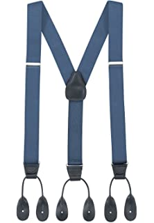 46518d22ad4 Hold Em Suspender for Men Made in USA Y-Back Genuine Leather Trimmed Button