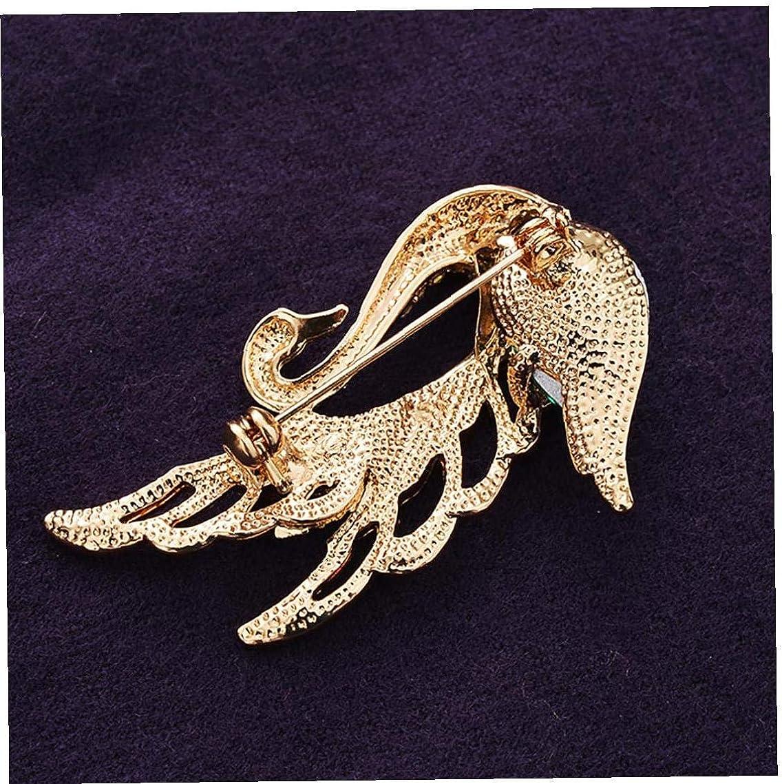 LAANCOO /Él/égant Pourpre /él/égant Cristal Broche Swan Broche Oiseau mari/ée Broche Strass Broche Fantaisie Bijoux Cadeau Femmes Filles Festival de Cadeaux