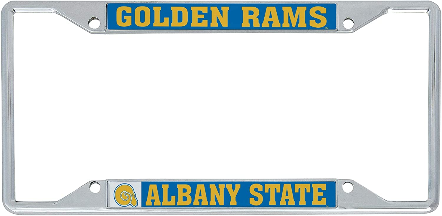 Mascot Desert Cactus Albany State University ASU Golden Rams NCAA Metal License Plate Frame for Front Back of Car Officially Licensed