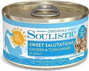 Soulistic Originals Sweet Salutations Chicken & Tuna Dinner in Gravy Wet Cat Food, 3 oz., Case of 12, 12 X 3 OZ