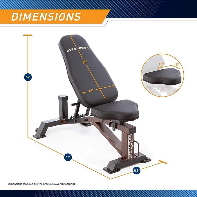 steel body deluxe bench