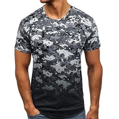 Camisetas Camuflaje Hombre Verano SHOBDW 2019 Nuevo Camisetas ...
