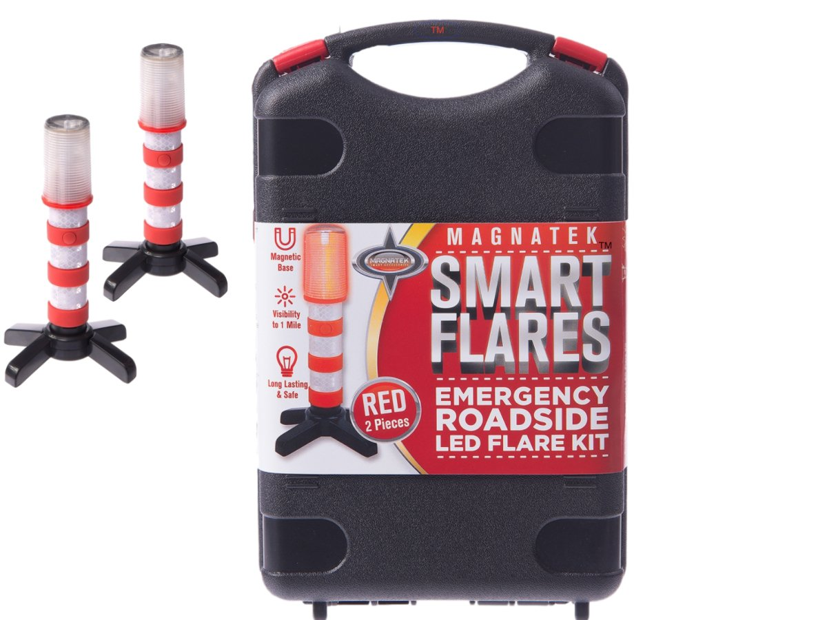 Amazon red led emergency roadside flares magnetic base and amazon red led emergency roadside flares magnetic base and upright stand these magnatek red led beacons may save your life our road flares come biocorpaavc