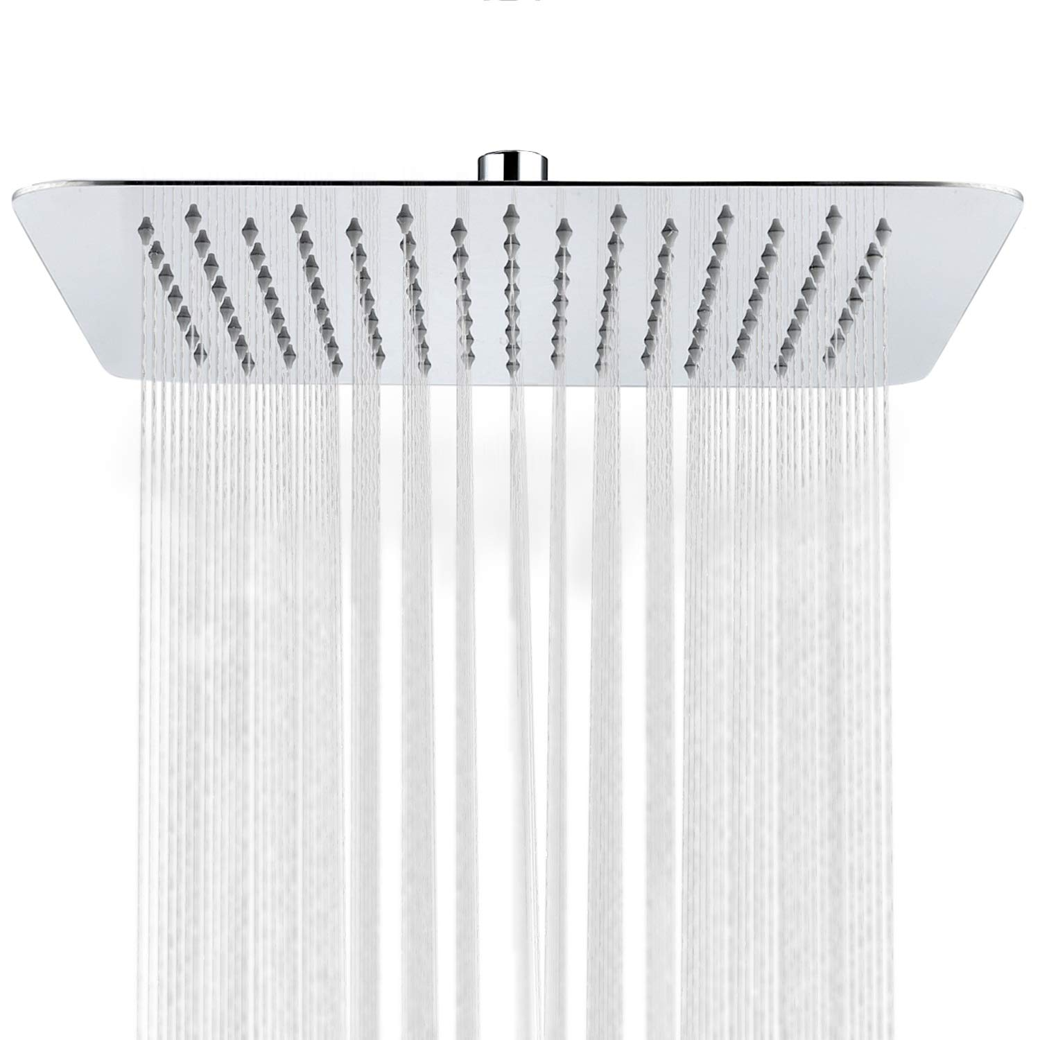 SR SUN RISE 12 Inch Stainless Steel Large Square Rainfall Shower Head