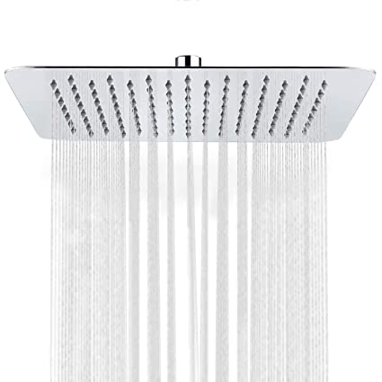 sr sun rise luxury 12 inch large square stainless steel shower head