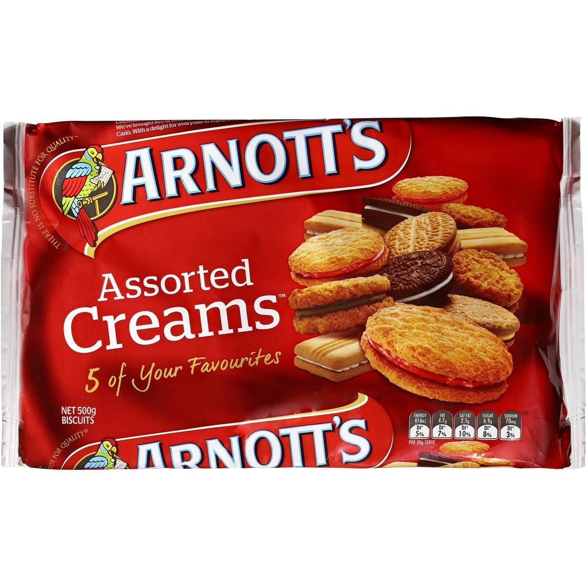 Arnotts Assorted Cream Biscuits 500g