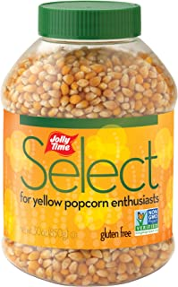 product image for Jolly Time Select Popcorn Kernels - Premium Yellow Non-GMO Popping Corn, 30-Ounce Jars (Pack of 6)