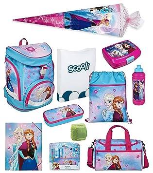 680baafc20ab4 Familando Frozen Mädchen Schulranzen-Set 18 TLG. Scooli Twixter Up  Schulrucksack Disney Die Eiskönigin