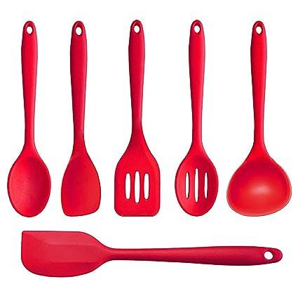 Joyoldelf de 6 piezas de primera calidad de cocina de silicona para hornear Set - espátulas