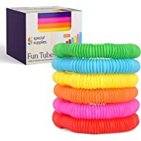 Special Supplies 30-Pack Fun Pull and Pop Tubes for Kids Stretch, Bend, Build, and Connect Toy, Provide Tactile and…