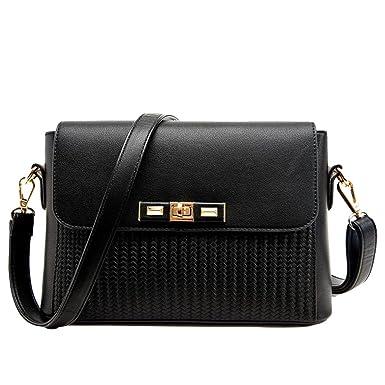 Handtaschen Kleine Quadratische Tasche Messenger Bag Europa Und Die Vereinigten Staaten Mode Geflochten Muster Schultertasche,Red-OneSize GKKXUE