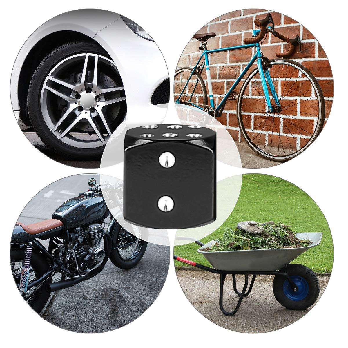 kwmobile 5X Bouchon de Valve Capuchon de Protection en m/étal pour Voiture v/élo Moto argent/é-Noir Embout m/étallique pour Pneu