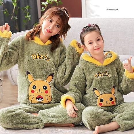 Invierno franela pijamas para niñas grueso coral polar niña ...
