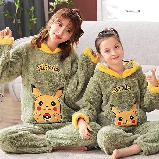 Pijama de invierno para niñas de franela gruesa coral polar niña ...